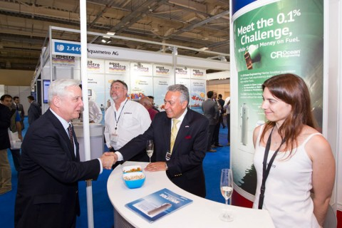 US Ambassador David D. Pearce at the Kaminco stand