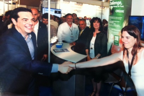 Prime Minister Mr. Alexis Tsipras at the Kaminco stand